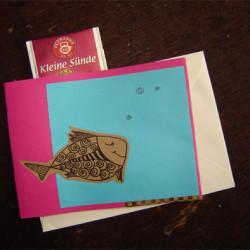 Karten und Teegrüße